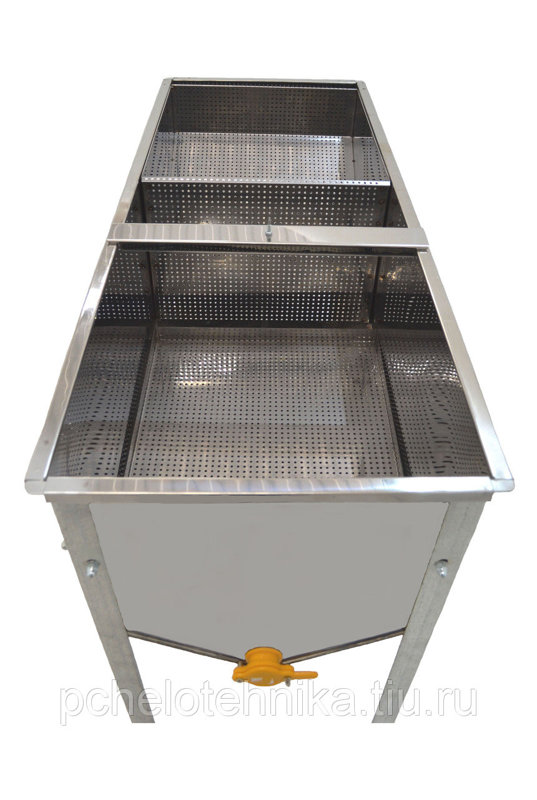 Atvākojamais galds 1,18m ar vienu grozu un vienu paliktni (nerūsējošā tērauda)