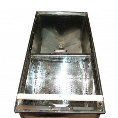 Atvākojamais galds 1,5m ar diviem groziem (nerūsējošā tērauda)