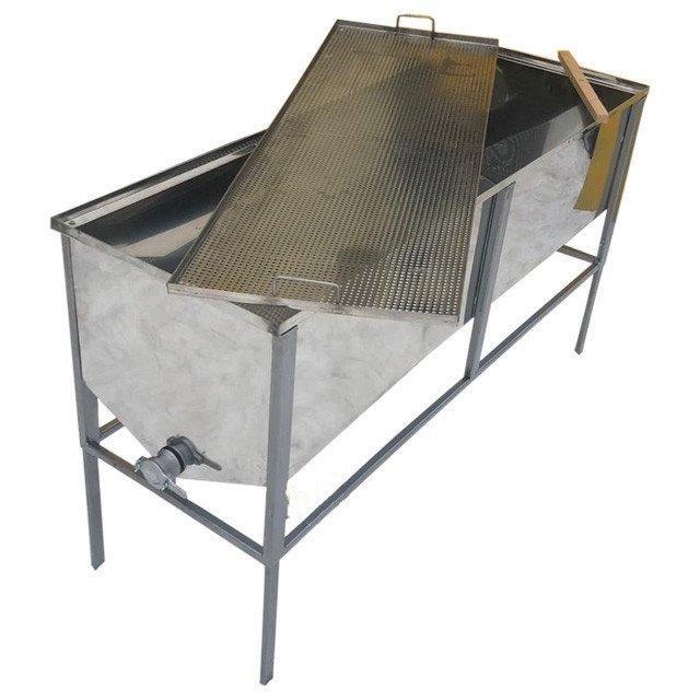 Atvākojamais galds 1,5m ar plakanu grozu (nerūsējošā tērauda)