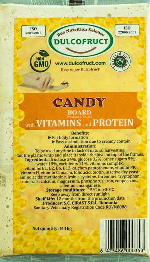 DULCOFRUCT bišu kandijs ar vitamīniem un proteīniem 1kg