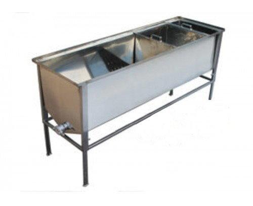 Atvākojamais galds 1,5m ar vienu grozu (nerūsējošā tērauda)