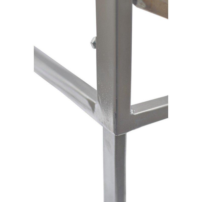 Atvākojamais galds 1m ar plakanu grozu (nerūsējošā tērauda)