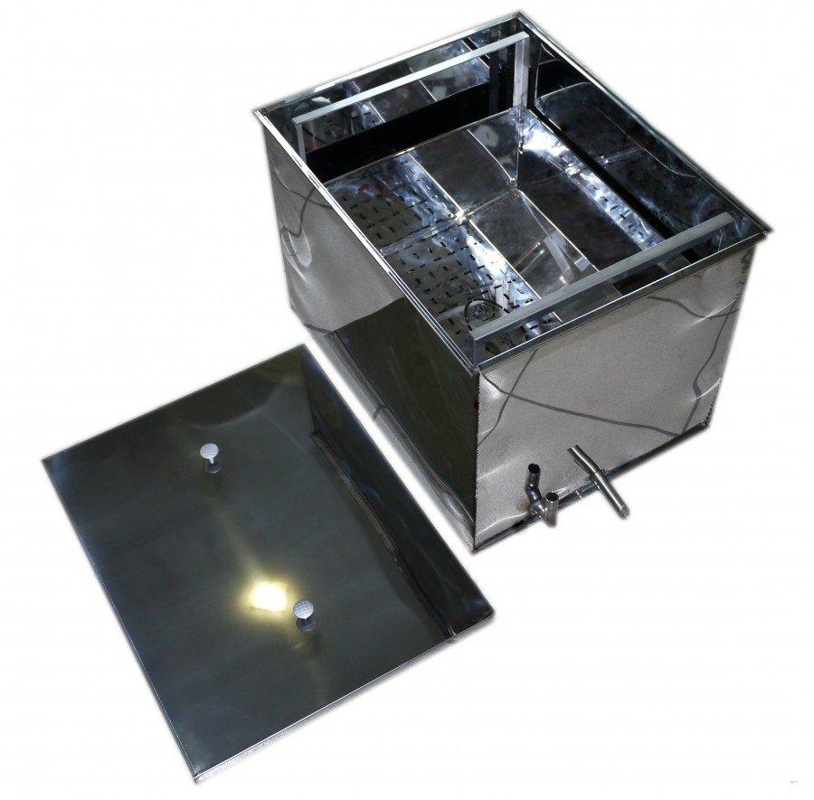 Tvaika vaska kausētava 12 rāmīšiem elektriskā (nerūsējošā tērauda)